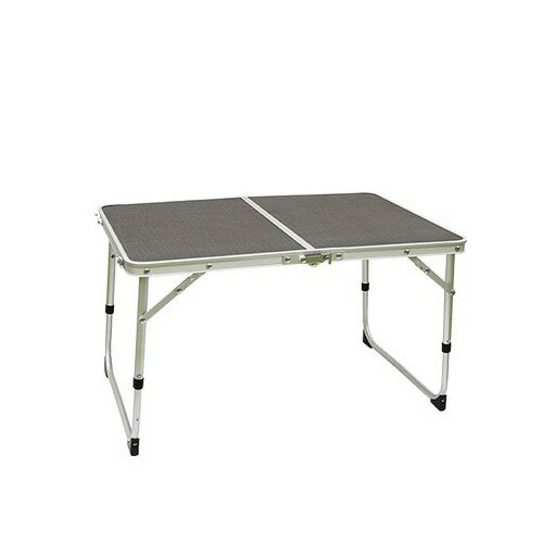 アルミ 2つ折り ミニテーブル 60×40cm QC-2FT60 グレー