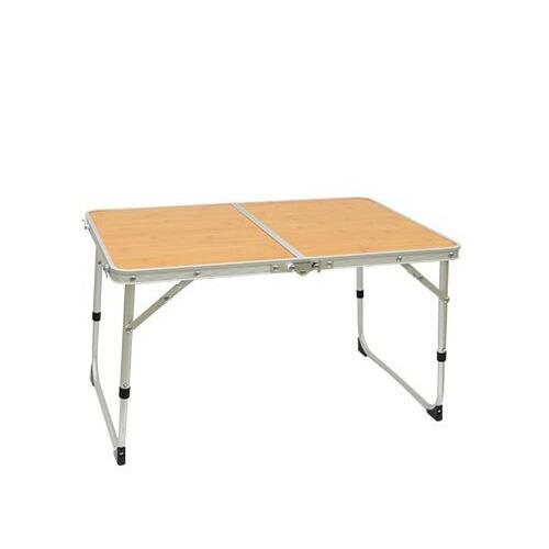 アルミ 2つ折り ミニテーブル 60×40cm QC-2FT60 バンブー