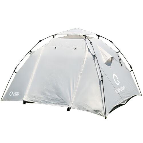 クイックキャンプ ワンタッチテント 3人用 インナーテント付き ドームテント フルクローズ アウトドア フェス キャンプ用 QC-DT220