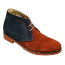 [hiromichi nakano( Hiromichi Nakano] light weight cowhide chukka boots, 108H( brown navy) [easy ギフ _ packing] which is colorful, and is stylish