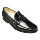 Mackay expression, all cowhide loafers, Y740 (black) of a certain luster glass finish