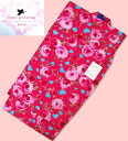 MATSUDA Seiko SEIKO MATSUDA yukata KIDS brand yukata rose / heart flowers 4 you tailoring up yukata 9-10 years old for 130 girls girls kids children