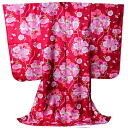 High-quality yuzen cross grips washable kimono long-sleeved kimono long undergarment New Year holidays / Doll's Festival / banquet of the Seven-Five-Three Festival 7 years old liver belonging to