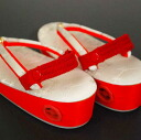Shichi heel belt stop Sandals band red 2 accessory, car 七五三, Festival, new year, party and receptions and photo imaging and 被布 coat and girls and Japanese style sandals