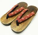 Ten kinds of coating paulownia clogs lightweight rubber bottom sandals
