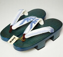 Product made in high-quality Aizu paulownia clogs evening fog blue サバキフリーサイズ ゆかたげた Japan