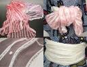 Luxury cotton silk belt ☆ 60% ☆ yukata white lattice blur fluffy wove