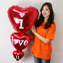 Heart balloons Iloveyou 3-stage heart 91 cm