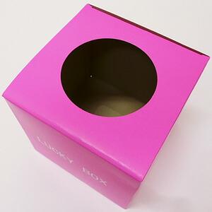 抽選箱 小 ピンク 16cm