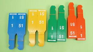 イベントグッズ/式典用品・催事用品/クローク用番号札(1〜100番×4色) 紙製