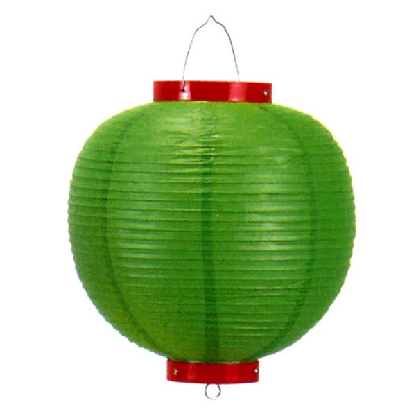 イベントグッズ/提灯(ちょうちん)/カラービニール提灯[ちょうちん] 緑