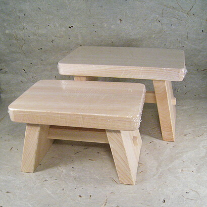 hinoki bath stool