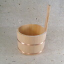 Wooden one hand pail for hot water