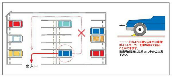 停车场汽车交通安全岛楔子聚碳酸酯 p06dec14