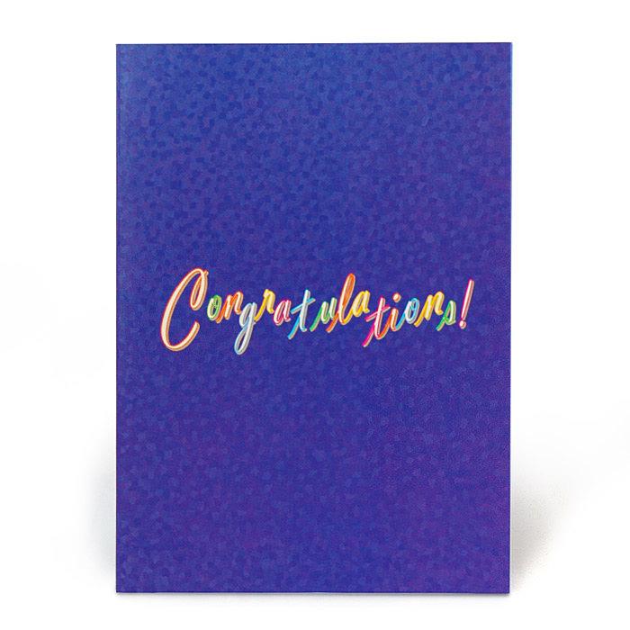 お祝い紙素材カード電報 105 ロイヤルブルーバード