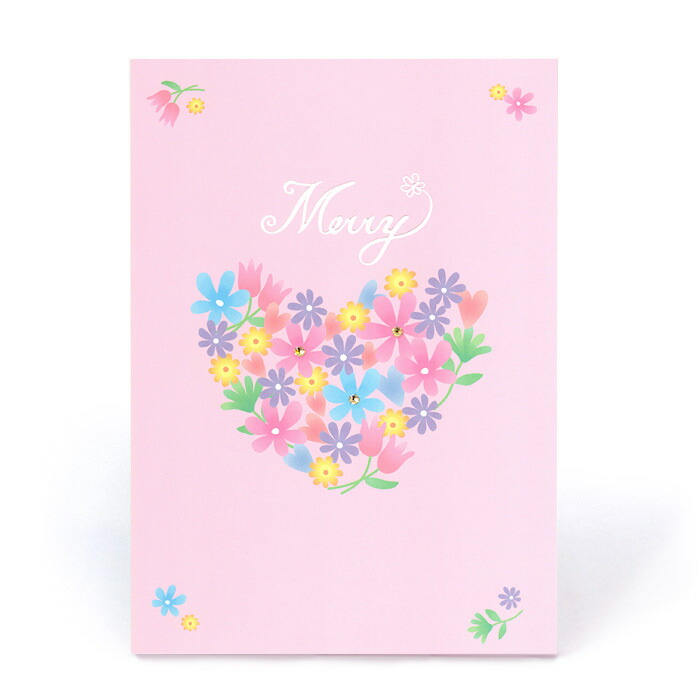 お祝い一般紙素材カード電報 204 メリー