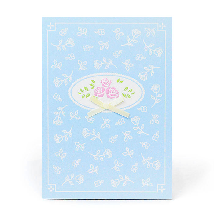 お祝い一般紙素材カード電報 205 ブルーガール