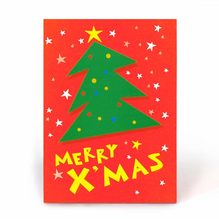 お祝い一般紙素材クリスマスカード電報 212 クリスマスツリー