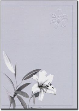 紙素材カード電報「白い百合」