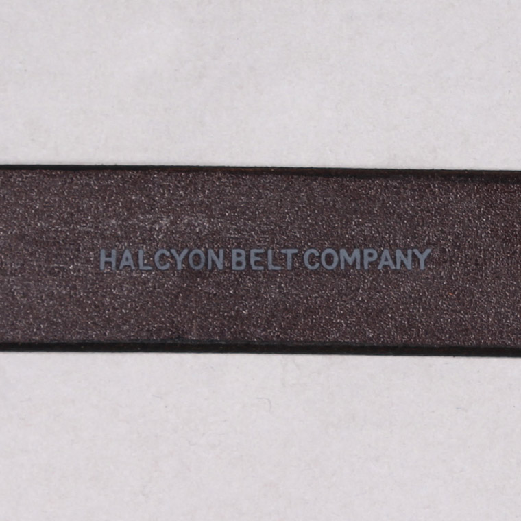 HALCYON BELT COMPANY (ハルシオンベルトカンパニー)  BRIDLE PLAIN BELT - DK BROWN