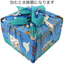 fs3gm made in furoshiki (75cm) Japan out of the furoshiki Misato Asayama aquarium (blue) cotton