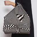fs3gm made in 24 furoshiki large size KONOMI (preference) cotton width furoshiki stripe (stripe) black (97cm) Japan