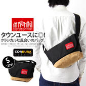 Manhattan Portage �ޥ�ϥå���ݡ��ơ��� Suede Fabric Casual Messenger Bag �������ɥե��֥�å� �����奢�� ��å��󥸥㡼�Хå�