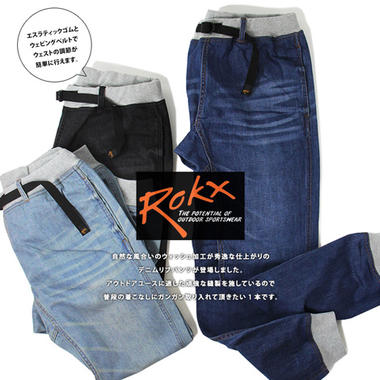 ROKX ��å��� COTTONWOOD DENIM PANTS ���åȥ󥦥å� �ǥ˥� �ѥ��