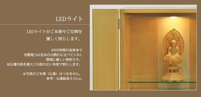 LED�饤�ȡ�LED�饤�Ȥ�����º�䤴���פ�ͥ�����Ȥ餷�ޤ���4000���֤�Ĺ��̿�ǡ��������ϤϽ������Ǯ������٤�1/8�ȡ��Ķ���ͥ���������Ǥ�����ʩ�����������130�٤ι������٤ǾȤ餷�ޤ��������̿��Τ���º��ʩ��ˤϤĤ��ޤ����͡�ʩ����⤵22cm