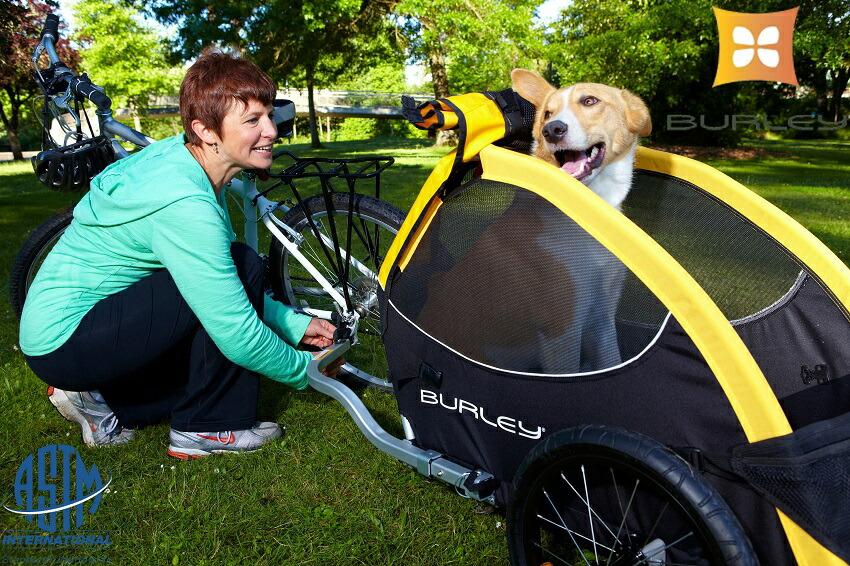 愛犬とサイクリング!便利なペットトレーラー