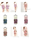 2014 summer one piece 2way summer one piece no sleeve dress ぺ plum summer one piece rose Lady's summer ワンピレデイース summer