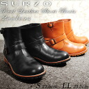 SURZO leather Engineer Boots Manish shoe boots Black Brown boys outdoor engineering large small size real leather casual women's 2014 Winter new