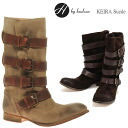 2013 H by Hudson KEIRA SUEDE suede leather boots strap engineer boots long boots low heel boots Lady's model grade fold 返 しぺたんこ boots low heel fall and winter