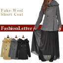 Coats outerwear coat short coat big hood wool coat faux wool double short-length medium-length ladies % sale 50% sale ladies ladies 2013 aw 2013 fall winter.