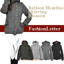 2013 2013 outer Lady's outer jacket volume neck blouson military jacket outer balloon big collar Mods coat lady's woman fall and winter new work 2013aw fall and winter