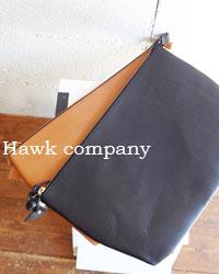 hawk companyレザークラッチバッグ