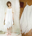 キャミワンピース which wants a natural forest girl to wear it softly in layered completion * summer of two levels of gauze material