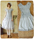 One piece summer forest girl Lady embroidered lace long dress South France towns such as switching races * graciously spent time with embroidered piece fs3gm