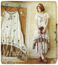 レイヤードキャミワンピース SSpopular03mar13_ladiesfashion fs3gm which did the one piece natural forest girl sky in the embroidery * drape hemline of the flower which floated softly
