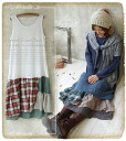 ♪♪The long length inner for magic petticoat who changes the clothes of the layered * favorite into an unusual expression that a check petticoat casual check plays ★★