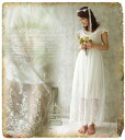 Romantic story. + spin ★ ★ one piece natural Maxi race Woods bride-beautiful delicate feather like total チュールレースマキシ-length one piece fs3gm
