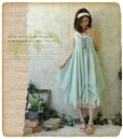 ★So that a natural garden reaches a cotton race; コットンレイヤードキャミワンピース * of the soft and fluffy hemline like the .+ ♪ fairy