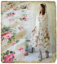 . + Favorite original * British rose garden in ° ~ a romantic floral print fabric featuring race-フレアキャミワン piece-fs3gm