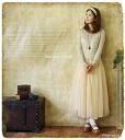 Ensemble chiffon knit キラキラロマンティック to the world. + degrees with glitter knit and soft chiffon fairy アンサンブルワン piece fs3gm