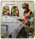 Afternoon tea in one hand reading ♪ cute patchwork of colorful hand-made knit Cardigan * fs3gm