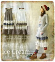 Petticoat one piece * which I did layered in a race and a floret liking a petticoat race ゆわりゆらりとろける IceCream ティアード .+ ° size