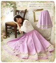 Race decoration circular linen skirt of the skirt ゜ + flare that circular flared skirt linen ~13 natural long *Favoite original * Sleeping Beauty dreamed of in a story♪
