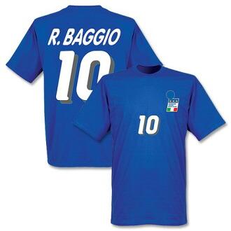 重新採取羅伯托 · 巴喬義大利國家隊 1994年家庭 T 恤 (藍色)