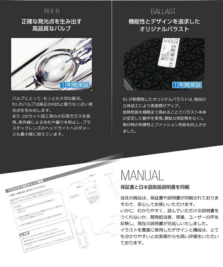 fcl. HIDの特徴|正確な発光点を生み出す高品質なバルブ|機能性とデザインを追求したオリジナルバラスト