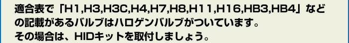 Ŭ��ɽ�ǡ�H1,H3,H3C,H4,H7,H8,H11,H16,HB3,HB4�פʤɤε��ܤ�����Х�֤ϥϥ?��Х�֤��Ĥ��Ƥ��ޤ������ξ��ϡ�HID���åȤ���դ��ޤ��礦��